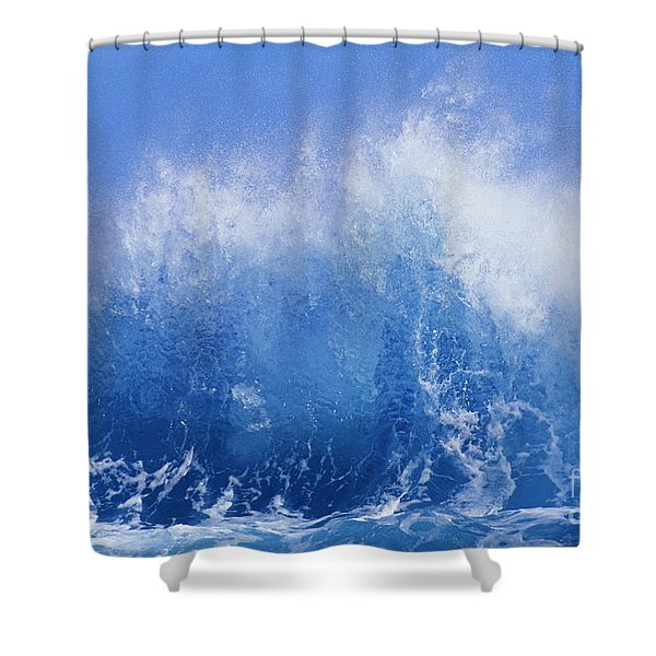 Crashing On Shore Shower Curtain by Vince Cavataio - Printscapes