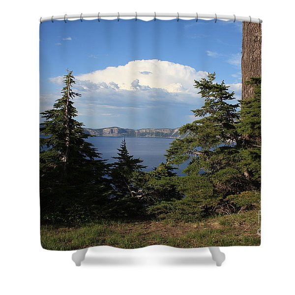 Crater Lake 8 Shower Curtain by Carol Groenen
