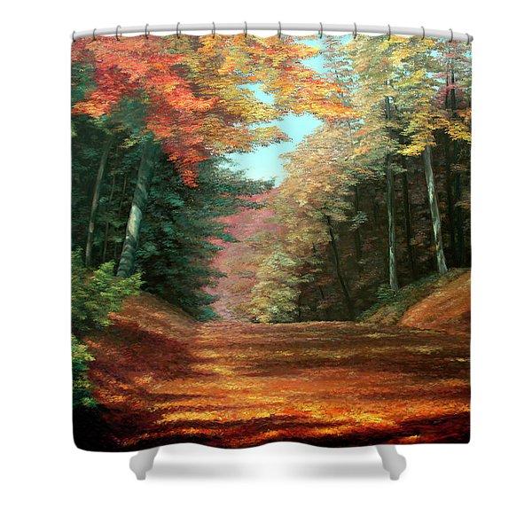Cressman's Woods Shower Curtain by Otto Werner