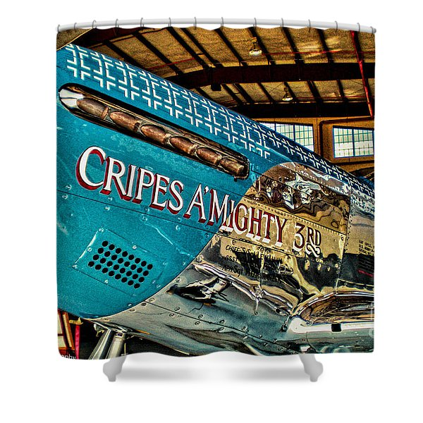 Cripes Almighty Shower Curtain by Tommy Anderson