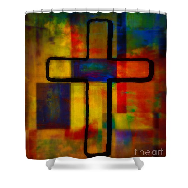 Cross XI Shower Curtain by WBK