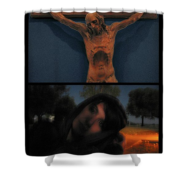 Crucifixion Shower Curtain by James W Johnson