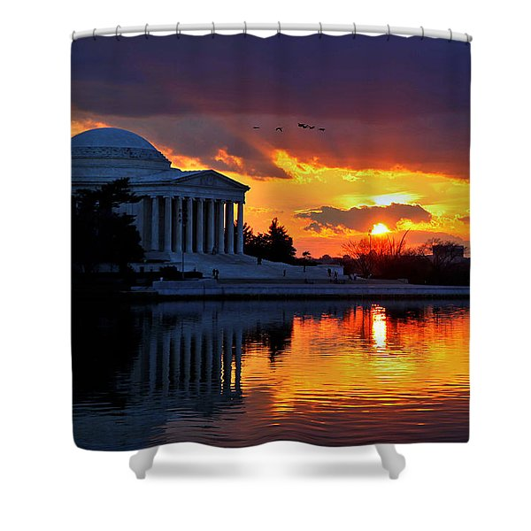 Dance The Tides Shower Curtain by Mitch Cat