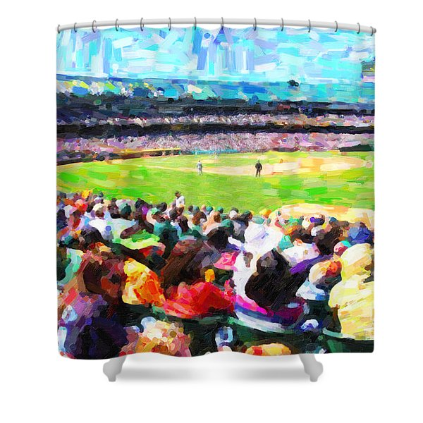 Day Game At The Old Ballpark Shower Curtain by Wingsdomain Art and Photography
