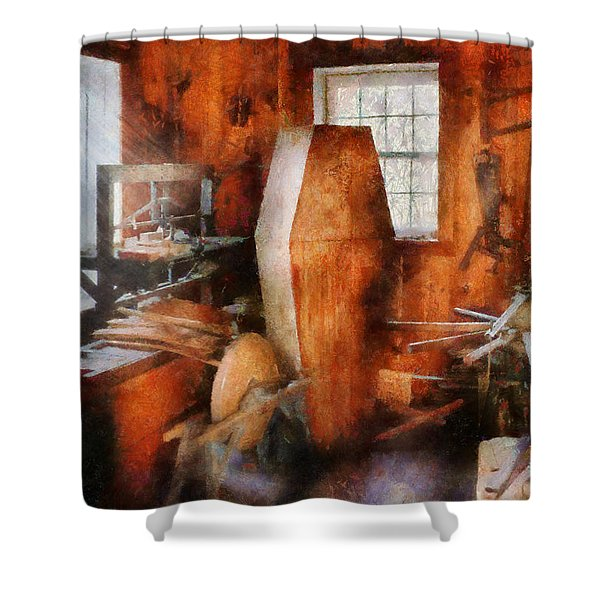 Death - The Coffin Maker Shower Curtain by Mike Savad