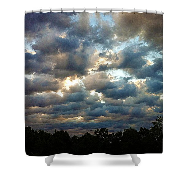 Deceptive Clouds Shower Curtain by Cricket Hackmann