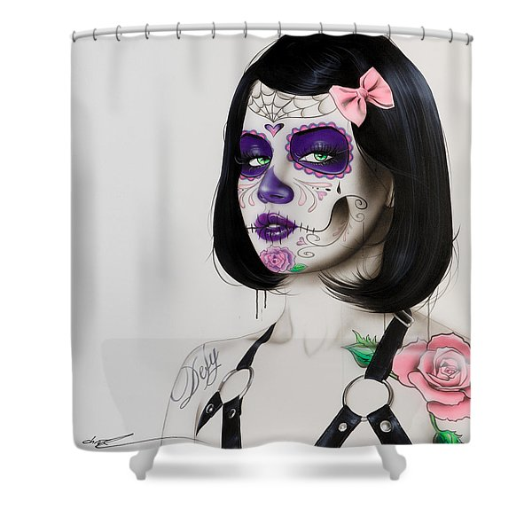 'defy' Shower Curtain by Christian Chapman Art