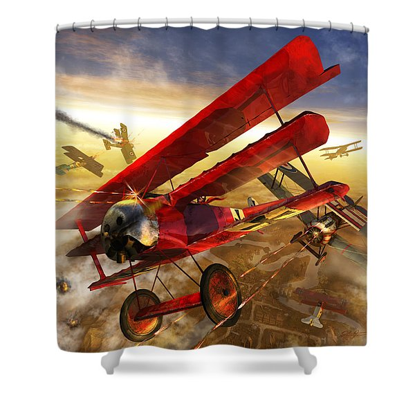 Der Rote Baron Shower Curtain by Kurt Miller