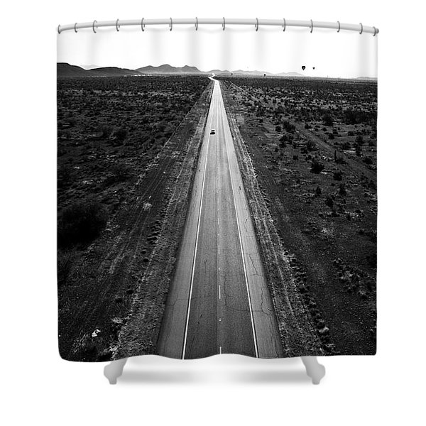 Desert Road Shower Curtain by Scott Pellegrin