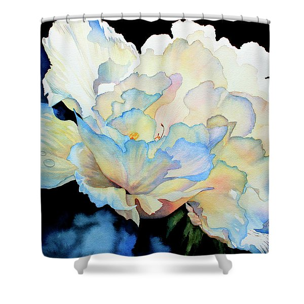 Dew Drops On Peony Shower Curtain by Hanne Lore Koehler