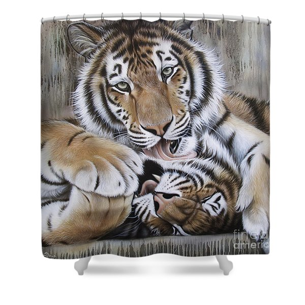 Diana's Duo Shower Curtain by Sandi Baker