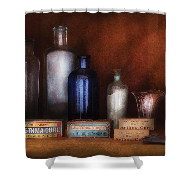 Doctor - Asthma Cures Shower Curtain by Mike Savad