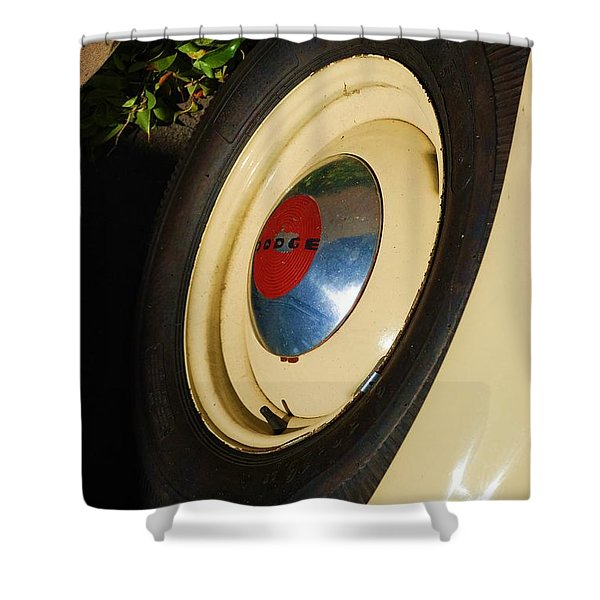 Dodge Tire Shower Curtain by Rob Hans