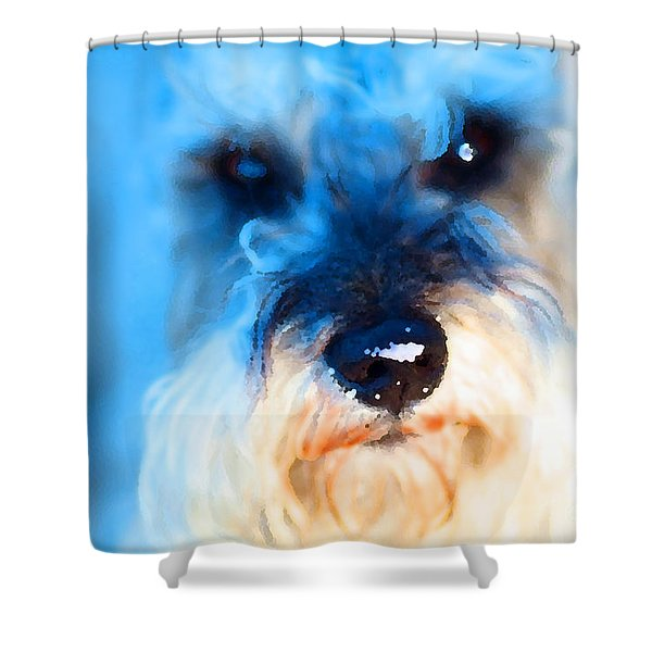 Dog 2 . Photo Artwork Shower Curtain by Wingsdomain Art and Photography