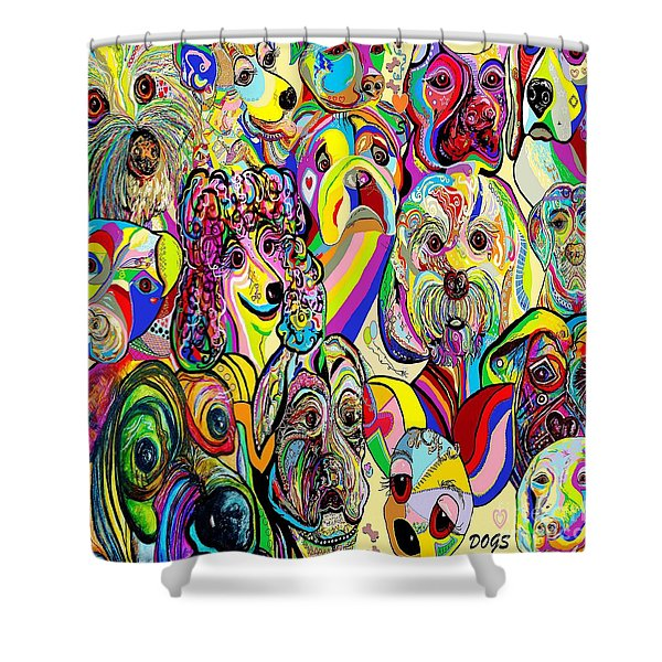 Dogs ... Dogs ... DOGS Shower Curtain by Eloise Schneider