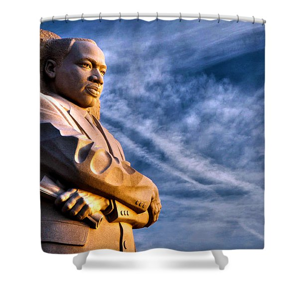 Doing For Others Shower Curtain by Mitch Cat