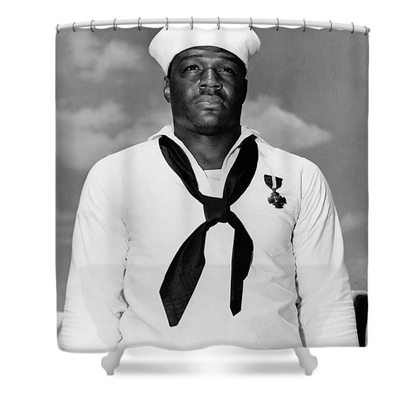Dorie Miller Shower Curtain by War Is Hell Store