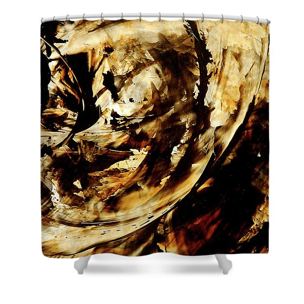Double Espresso Shower Curtain by Sharon Cummings