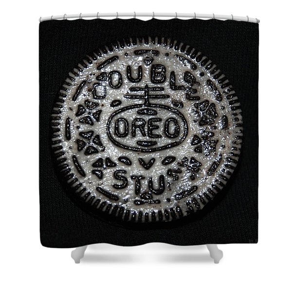 Double Stuff Oreo Shower Curtain by Rob Hans
