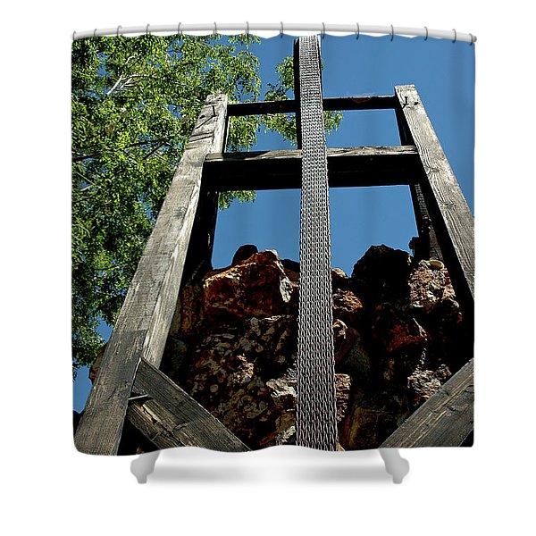 Down the Shaft Virginia City NV Shower Curtain by LeeAnn McLaneGoetz McLaneGoetzStudioLLCcom
