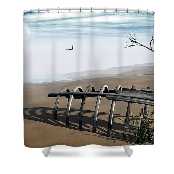 Dream Lake Shower Curtain by Richard Rizzo