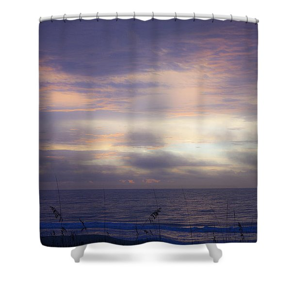 Dreamy Blue Atlantic Sunrise Shower Curtain by Teresa Mucha