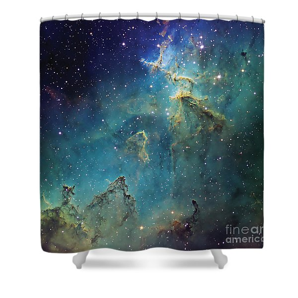Dust Columns As Part Of The Melotte 15 Shower Curtain by Don Goldman