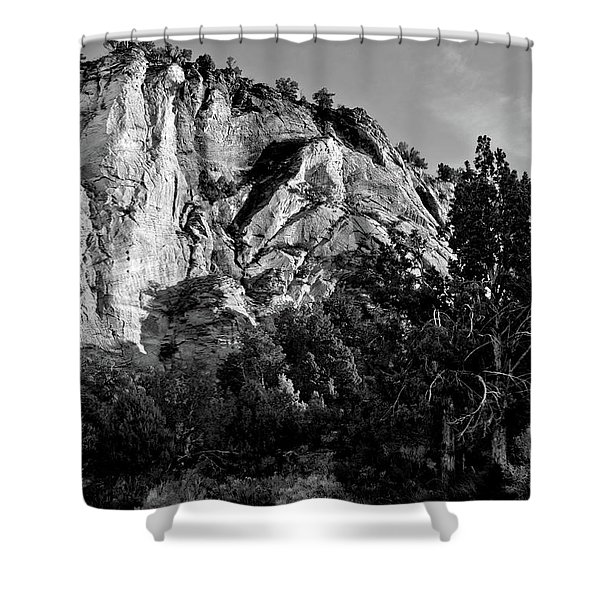 Early Morining Zion B-w Shower Curtain by Christopher Holmes