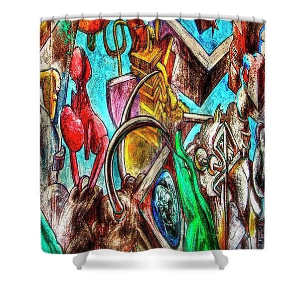 East Side Gallery Shower Curtain by Joan Carroll