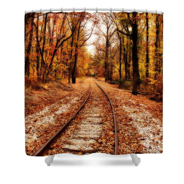 Eastbound Shower Curtain by Sandy Keeton