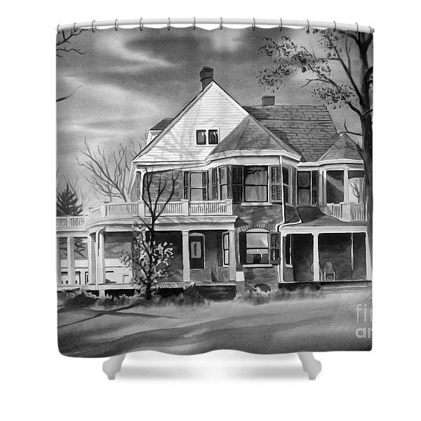Edgar Home BW Shower Curtain by Kip DeVore