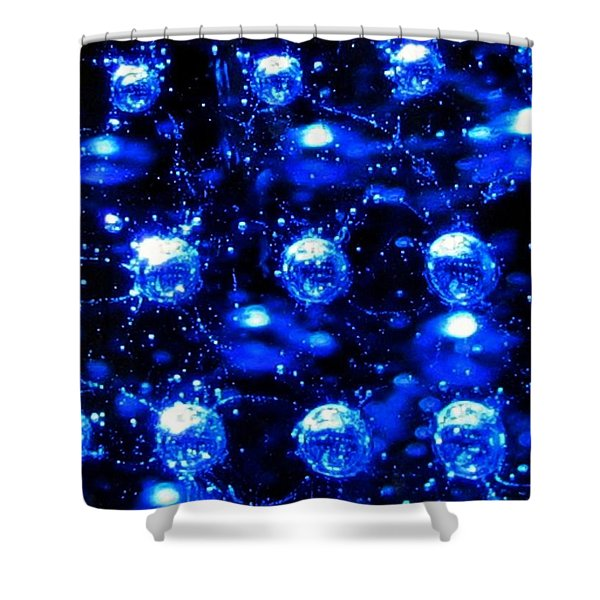 Effervescent Shower Curtain by Will Borden