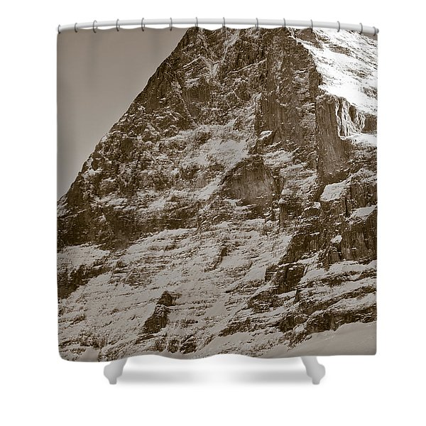 Eiger North Face Shower Curtain by Frank Tschakert