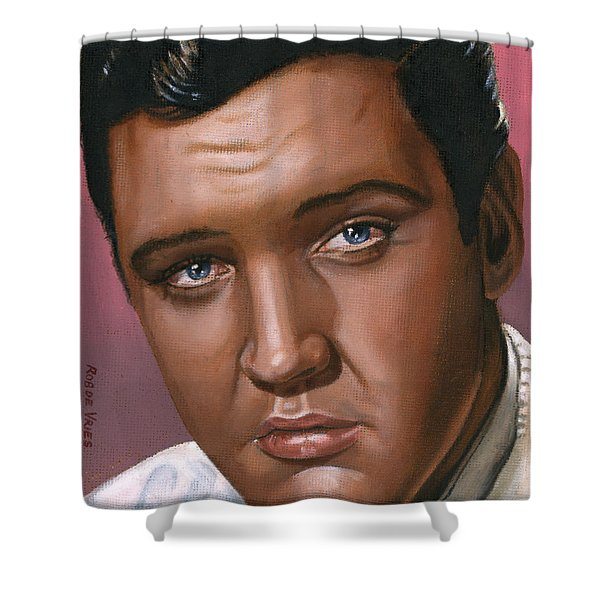 Elvis 24 1962 Shower Curtain by Rob De Vries