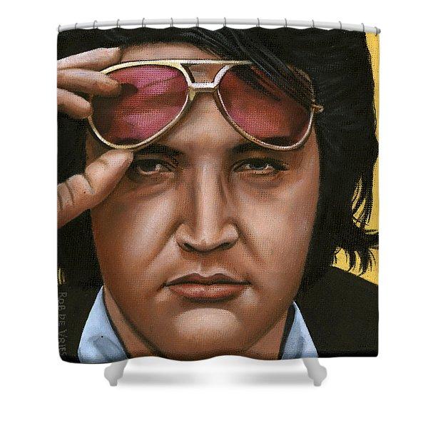 Elvis 24 1971 Shower Curtain by Rob De Vries