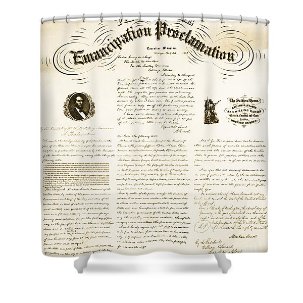 Emancipation Proclamation Shower Curtain by Photo Researchers
