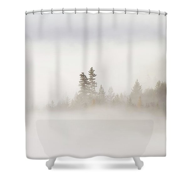 Emergence Shower Curtain by Mike  Dawson
