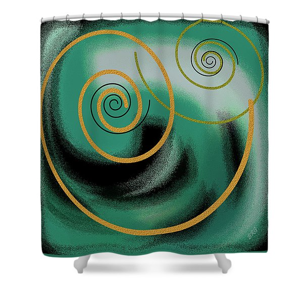 Encounter Shower Curtain by Ben and Raisa Gertsberg