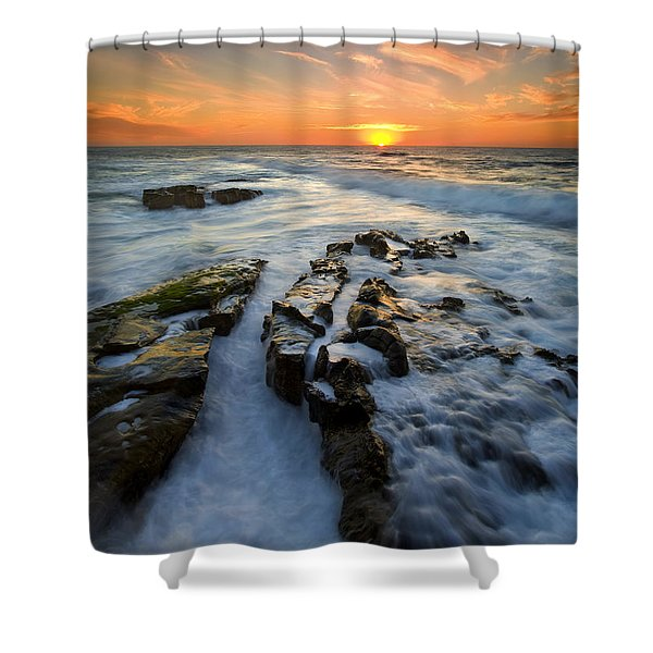 Engulfed Shower Curtain by Mike  Dawson
