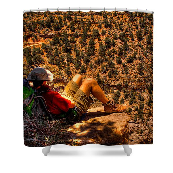 Enjoying The View Shower Curtain by David Patterson