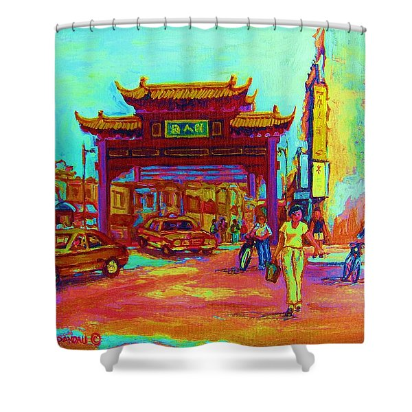 ENTRANCE TO CHINATOWN Shower Curtain by CAROLE SPANDAU