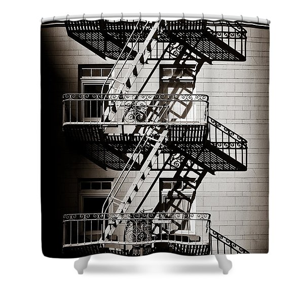Escape Shower Curtain by Dave Bowman