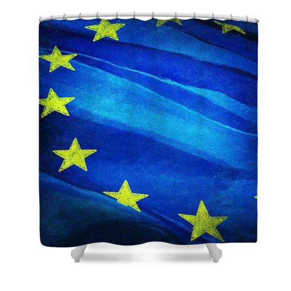 European flag Shower Curtain by Setsiri Silapasuwanchai