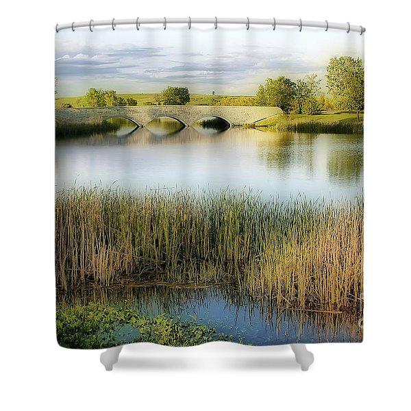 Evening Calm Shower Curtain by Teresa Zieba