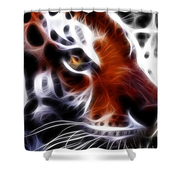 Eye Of The Tiger 2 Shower Curtain by Wingsdomain Art and Photography