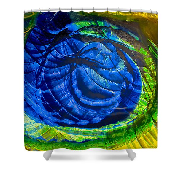 Eyeing a Storm Shower Curtain by Omaste Witkowski
