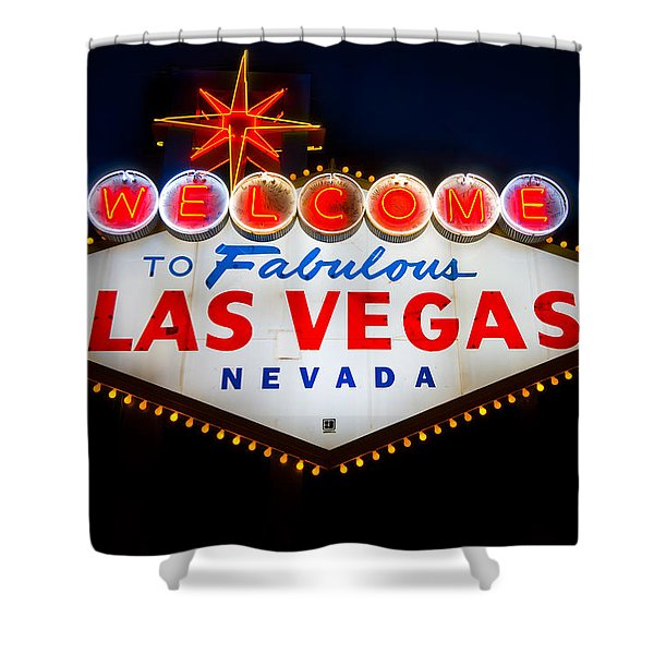 Fabulous Las Vegas Sign Shower Curtain by Steve Gadomski