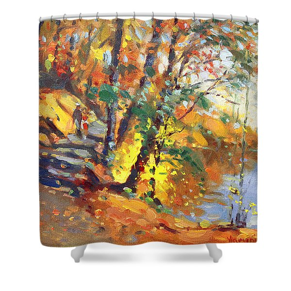 Fall in Bear Mountain Shower Curtain by Ylli Haruni