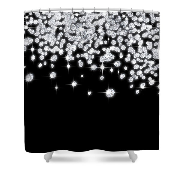 falling diamonds Shower Curtain by Setsiri Silapasuwanchai