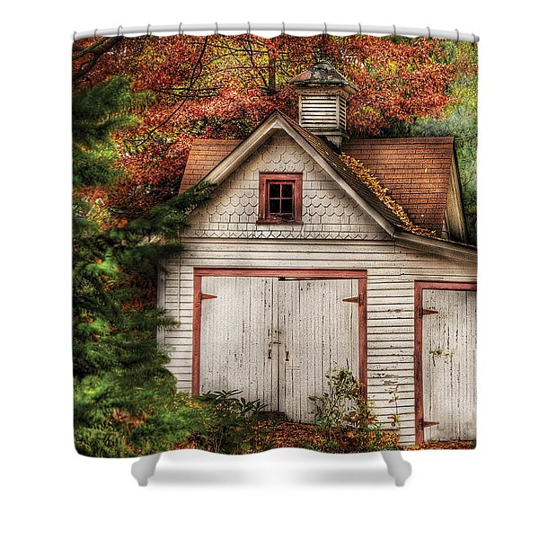 Farm - Barn - Our old shed Shower Curtain by Mike Savad